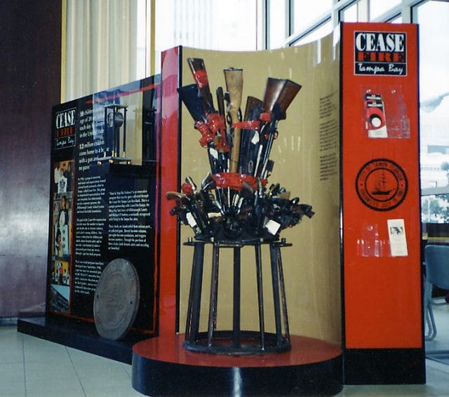 Cease Fire Museum Display