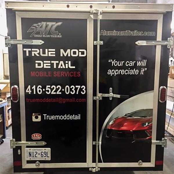 box trailer vinyl advertizing wrap