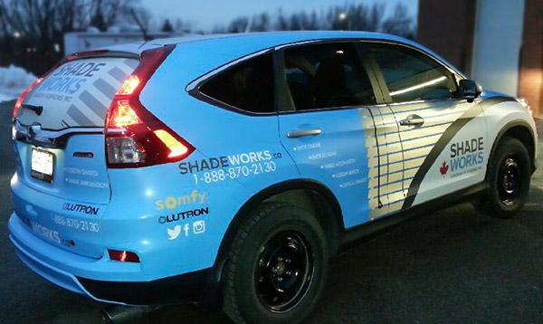 metallic vinyl vehicle wrap for toronto-company