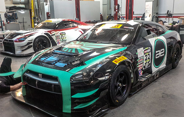 vinyl wrap for racing car for the Nissan Racing Team