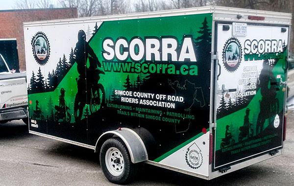 vinyl wrapped box trailer
