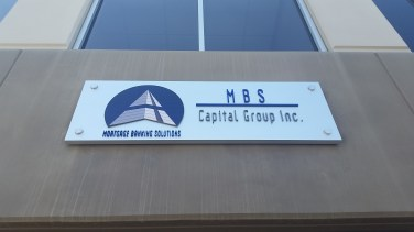 Exterior metal backer with acrylic letters