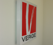 Interior wall LED sign