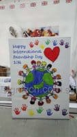 1.5 x 2m Pull Up banner - Happy International Friendship Day 2016