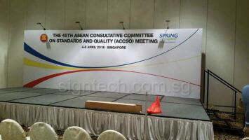 24 x 8 ft backdrop for Sping SIngapore 45th Asean at Furama Hotel