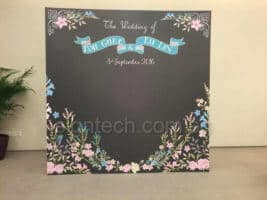 8 x 8ft disposable foam board backdrop for wedding