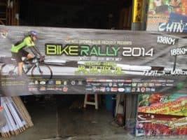 NUS Bike rally PVC banner