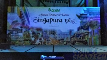 Olam annual dinner and dance stage backdrop