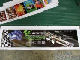 Small sample printout on PVC banner for RP poly