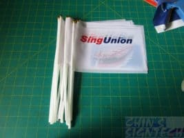 A5 size Hand waving flag for SingUnion