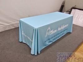 Custom Table cloth printed light blue
