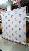 Portable Telescopic Backdrop with PVC banner
