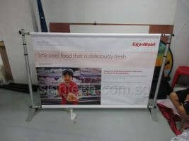 Telescopic Backdrop with PVC Banner for exhibition