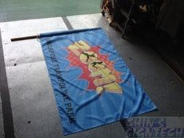 colourful flag printing