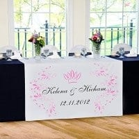 table runer for wedding
