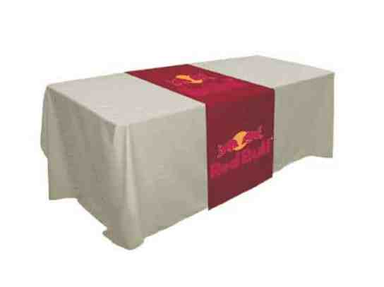 table runner for exhibition