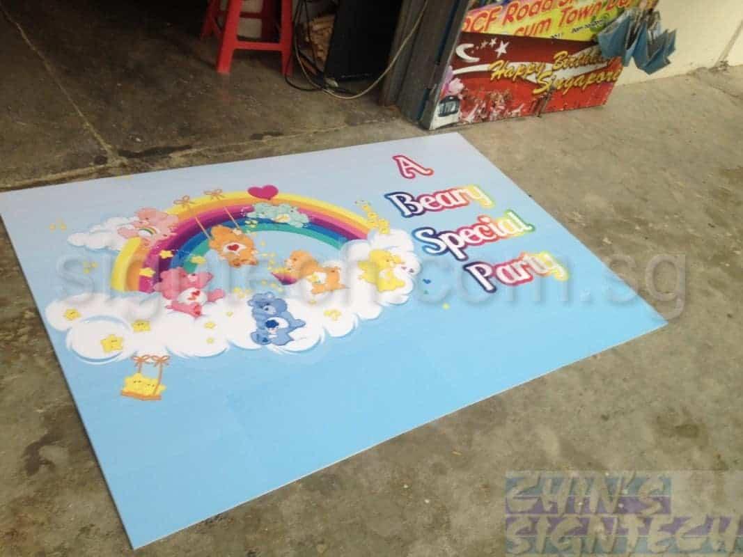 Foam board design with Care Bears