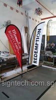 2.2m Teardrop banner and 2.5m Feather flag