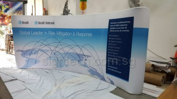 20ft Tension fabric display - curve