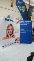 3x 2.25m Tension Fabric Display for trade show