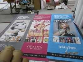 Digital fabric banner printing