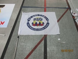 School Flag With Aluminum Telescopic Pole
