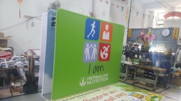 Portable Exhibition booth display - Hearbalife