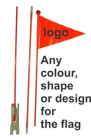 custom safety bicycle flag