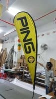 3.3m teardrop banner - PING - Yellow