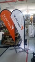 Small size Teardrop Banner - World Vision