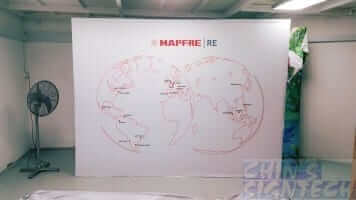 Fabric Pop Out Display - MAPFRE - Straight 3 x 2.25m