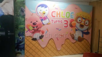 Pop up display system for kid birthday