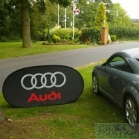 A frame pop out banner - jaguar audi Black