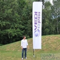 rectangle flag 5meter height