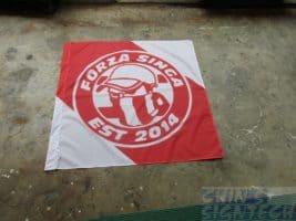 Soccer cheering flag