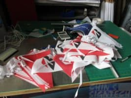 Triangular pennants for bridgestone