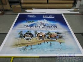 8 x 5ft PVC banner printing for dancing with friends Photo Booth backdrop _Tropical Sunday