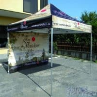 Custom pop up gazebo with 1 full back wall