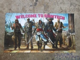 Digital textile on Assassins Creed with Pirates - welcome to signtech