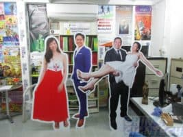 Life size human foam board standee
