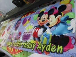 Mickey Mouse birthday banner (2)
