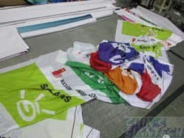 NJC flags without completed sewing
