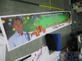 PVC banner for Siglap Christmas greetings