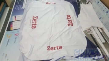 6ft table cloth for Zerto with 4 sides Logo