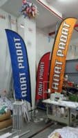 3 sizes of Feather Flags