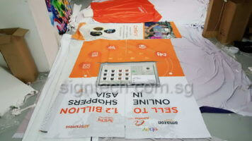 Exhibition booth panel printing on fabric