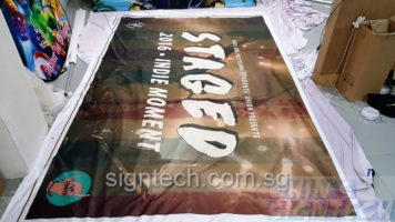 4 x 2.5m fabric banner for Ngee Ann Poly Students' Union Staged