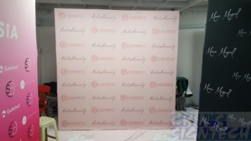 2.25 x 2.25m Fabric Pop Up display