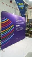 3 x 2.25m Tension Fabric display with LED lights - Dentons