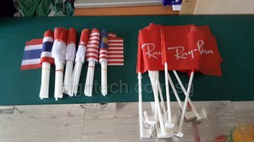 Car flags and A5 size hand flags